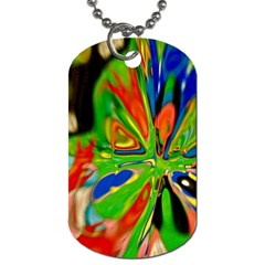 Acrobat Wormhole Transmitter Monument Socialist Reality Rainbow Dog Tag (one Side) by Mariart