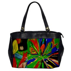 Acrobat Wormhole Transmitter Monument Socialist Reality Rainbow Office Handbags by Mariart