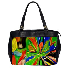 Acrobat Wormhole Transmitter Monument Socialist Reality Rainbow Office Handbags (2 Sides)  by Mariart