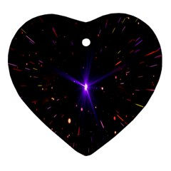 Animation Plasma Ball Going Hot Explode Bigbang Supernova Stars Shining Light Space Universe Zooming Ornament (heart) by Mariart