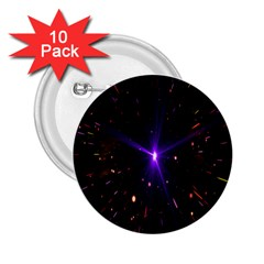 Animation Plasma Ball Going Hot Explode Bigbang Supernova Stars Shining Light Space Universe Zooming 2 25  Buttons (10 Pack)