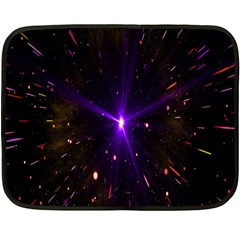 Animation Plasma Ball Going Hot Explode Bigbang Supernova Stars Shining Light Space Universe Zooming Fleece Blanket (mini) by Mariart