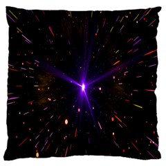 Animation Plasma Ball Going Hot Explode Bigbang Supernova Stars Shining Light Space Universe Zooming Standard Flano Cushion Case (two Sides) by Mariart