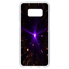 Animation Plasma Ball Going Hot Explode Bigbang Supernova Stars Shining Light Space Universe Zooming Samsung Galaxy S8 White Seamless Case by Mariart