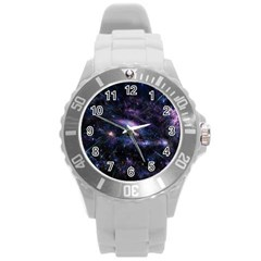 Animation Plasma Ball Going Hot Explode Bigbang Supernova Stars Shining Light Space Universe Zooming Round Plastic Sport Watch (l) by Mariart