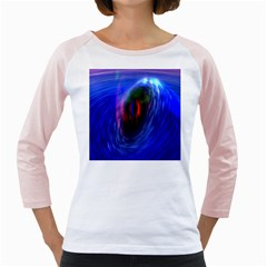 Black Hole Blue Space Galaxy Girly Raglans