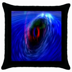 Black Hole Blue Space Galaxy Throw Pillow Case (black) by Mariart