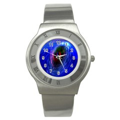 Black Hole Blue Space Galaxy Stainless Steel Watch