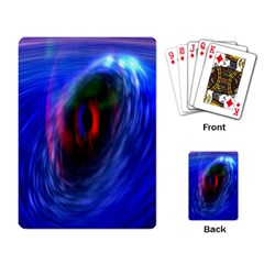 Black Hole Blue Space Galaxy Playing Card by Mariart