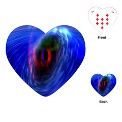 Black Hole Blue Space Galaxy Playing Cards (heart)  by Mariart