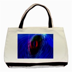 Black Hole Blue Space Galaxy Basic Tote Bag (two Sides) by Mariart