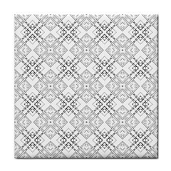 Background Pattern Diagonal Plaid Black Line Tile Coasters