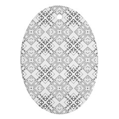 Background Pattern Diagonal Plaid Black Line Oval Ornament (two Sides) by Mariart