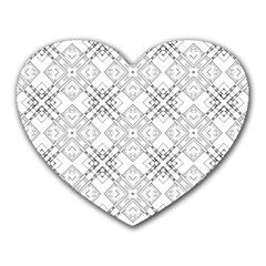 Background Pattern Diagonal Plaid Black Line Heart Mousepads by Mariart