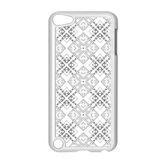 Background Pattern Diagonal Plaid Black Line Apple Ipod Touch 5 Case (white) by Mariart