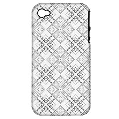 Background Pattern Diagonal Plaid Black Line Apple Iphone 4/4s Hardshell Case (pc+silicone) by Mariart