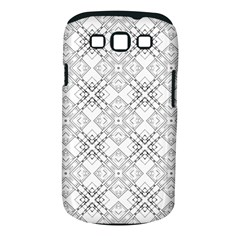 Background Pattern Diagonal Plaid Black Line Samsung Galaxy S Iii Classic Hardshell Case (pc+silicone)