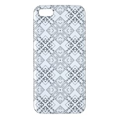 Background Pattern Diagonal Plaid Black Line Iphone 5s/ Se Premium Hardshell Case by Mariart