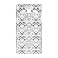 Background Pattern Diagonal Plaid Black Line Samsung Galaxy A5 Hardshell Case  by Mariart