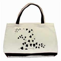 Black Leaf Basic Tote Bag by Mariart