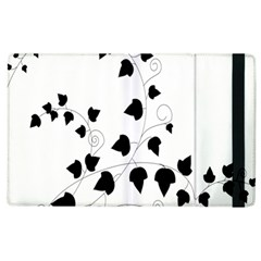 Black Leaf Apple Ipad 3/4 Flip Case by Mariart