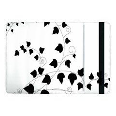 Black Leaf Samsung Galaxy Tab Pro 10 1  Flip Case by Mariart