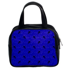 Unicorn Pattern Blue Classic Handbags (2 Sides) by MoreColorsinLife