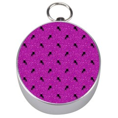 Unicorn Pattern Pink Silver Compasses by MoreColorsinLife