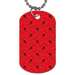 Unicorn Pattern Red Dog Tag (two Sides) by MoreColorsinLife