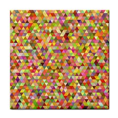 Multicolored Mixcolor Geometric Pattern Face Towel