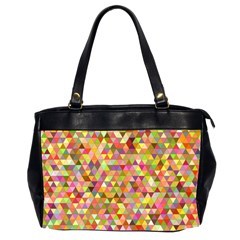 Multicolored Mixcolor Geometric Pattern Office Handbags (2 Sides)  by paulaoliveiradesign
