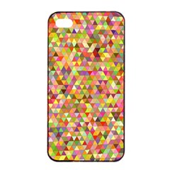 Multicolored Mixcolor Geometric Pattern Apple Iphone 4/4s Seamless Case (black) by paulaoliveiradesign