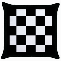 Grid Domino Bank And Black Throw Pillow Case (black)