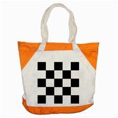 Grid Domino Bank And Black Accent Tote Bag by Nexatart