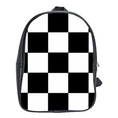 Grid Domino Bank And Black School Bag (large)