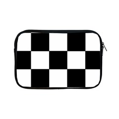 Grid Domino Bank And Black Apple Ipad Mini Zipper Cases by Nexatart