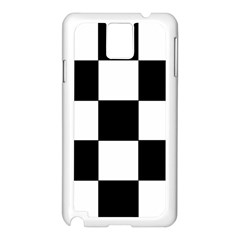 Grid Domino Bank And Black Samsung Galaxy Note 3 N9005 Case (white)