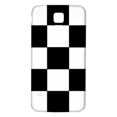 Grid Domino Bank And Black Samsung Galaxy S5 Back Case (white) by Nexatart