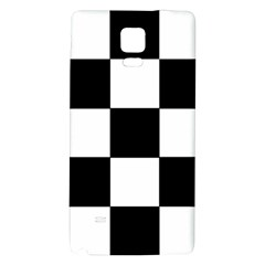 Grid Domino Bank And Black Galaxy Note 4 Back Case