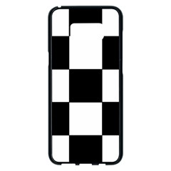 Grid Domino Bank And Black Samsung Galaxy S8 Plus Black Seamless Case by Nexatart