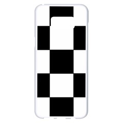 Grid Domino Bank And Black Samsung Galaxy S8 Plus White Seamless Case