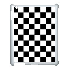 Grid Domino Bank And Black Apple Ipad 3/4 Case (white) by Nexatart