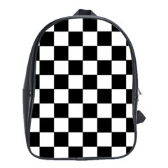Grid Domino Bank And Black School Bag (xl)