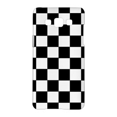 Grid Domino Bank And Black Samsung Galaxy A5 Hardshell Case  by Nexatart