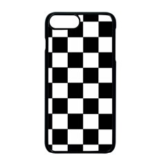 Grid Domino Bank And Black Apple Iphone 7 Plus Seamless Case (black)