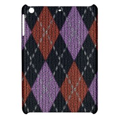 Knit Geometric Plaid Fabric Pattern Apple Ipad Mini Hardshell Case by paulaoliveiradesign
