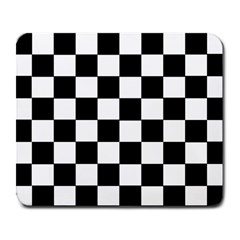 Grid Domino Bank And Black Large Mousepads by Nexatart