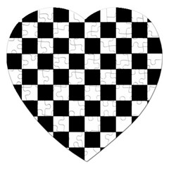 Grid Domino Bank And Black Jigsaw Puzzle (heart) by Nexatart