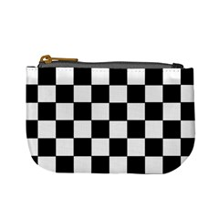 Grid Domino Bank And Black Mini Coin Purses by Nexatart