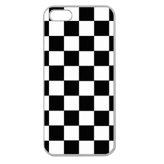 Grid Domino Bank And Black Apple Seamless Iphone 5 Case (clear)